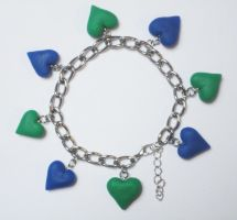 Comission Bracelet Hearts by Traumfaengerin-Wish