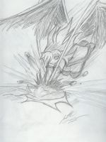 Angel's Attack by JTDrawingDragon