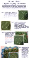 woven chain edge tutorial by Brookette