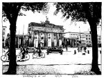 Brandenburg Gate from the west by RoodyN
