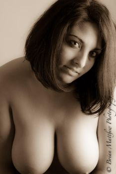 Antique-Sepia Busty Nude by BrianMPhotography