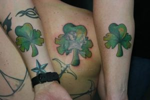 3 Leaf Clover Set by Lucky-Cat-Tattoo