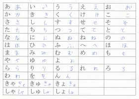 Hiragana Handwriting by emm2341