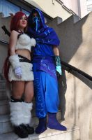 Kitty cat katarina cosplay and malzahar lol by ValeeraHime
