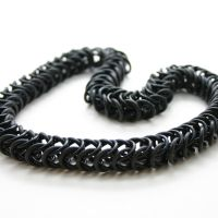 Black Stretchy Box Necklace by Utopia-Armoury