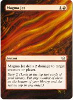 Magic Card Alteration: Magma Jet 9-10 by Ondal-the-Fool