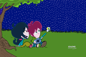 Lucky Fred, a Starry Night by Naomi-productions