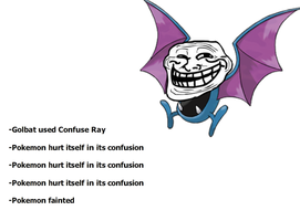 Golbat and Confuse Ray by Tayzonrai