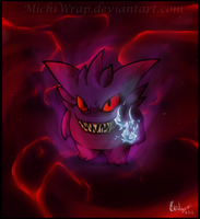 [Commissioned] Shadow Gengar by Orion-the-Absol