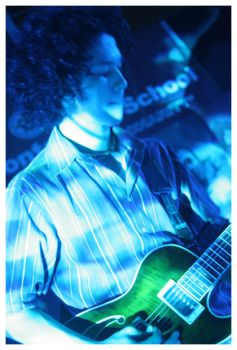 Blue Joel with a Green Guitar by houseofjealouslovers