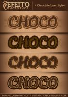 4 Chocolate Text Styles by Romenig