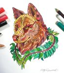 333- Intricate Wolf Head by Lucky978
