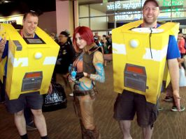 PAX 2012 - Claptrap 1 and 2 by Tarah-Rex