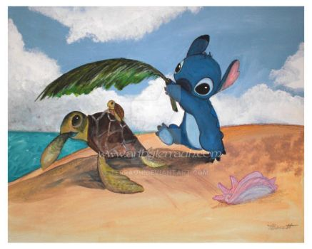 Stitch and Turtle by Terrauh