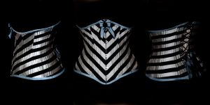 2010 FR stripy corset by Cuddlyparrot