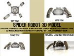 3DSM7 Spider Toonish Robot by Funeral-Of-Joy