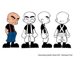 Skinhead Fred Model Sheet by kevinbolk