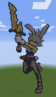 Minecraft - Battle Bunny Riven by Unstable-Life