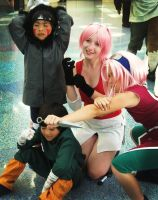 AX 2010 Sakura and Chibis by broken-with-roses