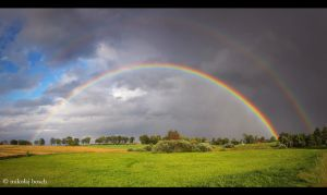 Rainbow over Wipsowo by Mitas