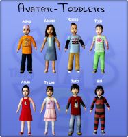 Sims2 Avatar-Toddlers by Flamula