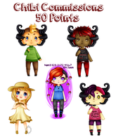 Chibi Commissions - 50 Points by Empty-Frames