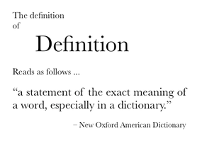 Definition of definition by tsarkon