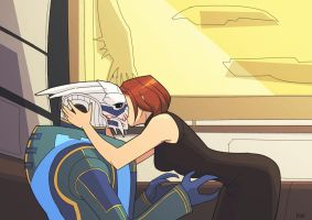 How to kiss a turian by Nicca11y