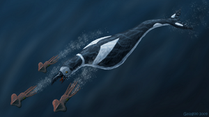 Hesperornid Cetus - Bird Whale by Galagoo