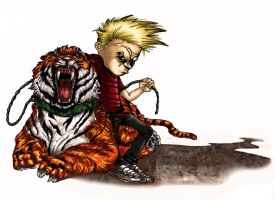 calvin and hobbes color by cajun884