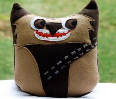 Owl Plushie Inspired by Chewbacca / Star Wars by sylvialovespink