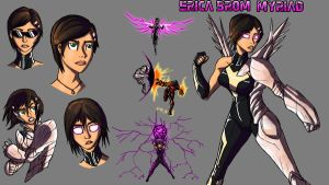 Erica Brom Character sheet by IHComicsHQ