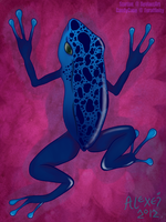 January: Blue Poison Dart Frog by Astromyxin
