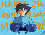 Megaman 27th Anniversary! by IndyHimura