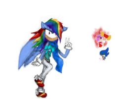 Rainbow Dash Sonic Style by EvaBronyLoveArt