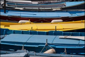 Fishing boats shapes by LiveInPix