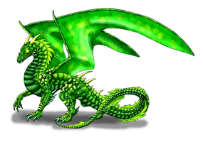 Emerald Dragon by Scatha-the-Worm