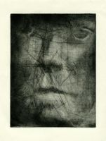 Drypoint Portrait Proof by ratpat13