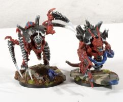 Tyranid Carnifexes by RavenousPainting
