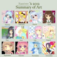 Marachann's 2012 Summary of Art by Mara-n
