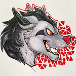 Mightyena Doodle by CowSprite