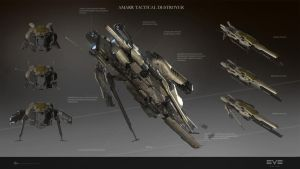 Amarr Tactical Destroyer back by sobaku-chiuchiu