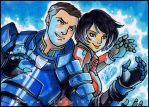 PSC - Kaidan and Shepard by aimo