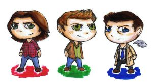 Supernatural Chibis by JoeyHazelLM