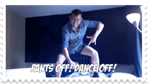 Markiplier - Pants off! Dance off! Stamp by SteffieNeko