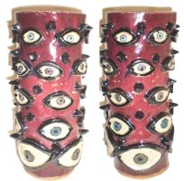 Red Eye Pot by aberrantceramics