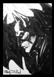 BATMAN Sketch Card for sale! by RayDillon