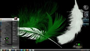 Nvidia Black 7 Glass theme by X-ile2010