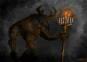 Candelabra demon by putridCheese