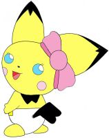 baby girl pichu by plushielover